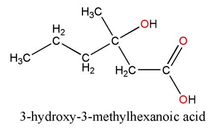 3-hydroxy-3-methylhexanoic acid