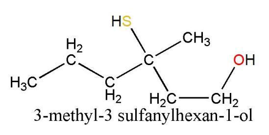3-methyl-3 sulfanylhexan-1-ol