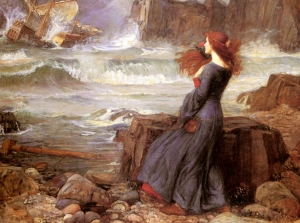 John William Waterhouse (1849-1917), Miranda—The Tempest. 1916.